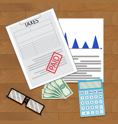 tax paid top view vector image