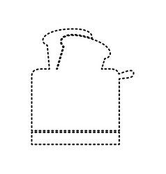 Toaster simple sign black dashed icon on vector