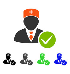 Valid doctor flat icon vector