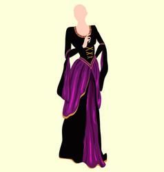 Violet dress 1 vector