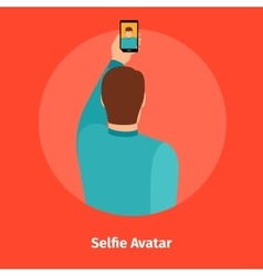 Fashion selfie view for mobile app vector