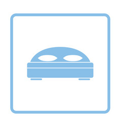 Hotel bed icon vector