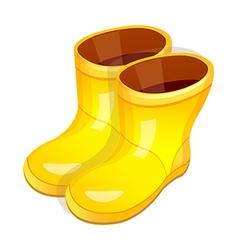 Icon rainboots vector