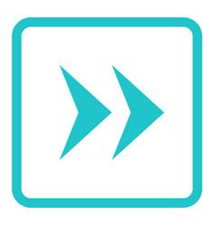 Arrow sign linear square icon vector