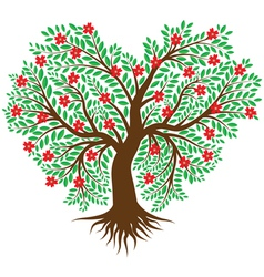 Tree in the form of heart vector