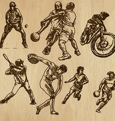 Sport - an hand drawn pack vector