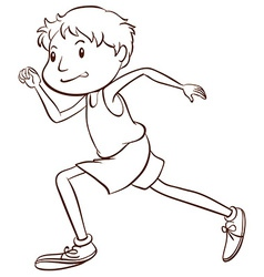 A simple sketch of a man running vector