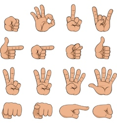Set of cartoon hands vector