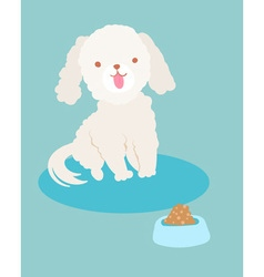 White poodle dog vector