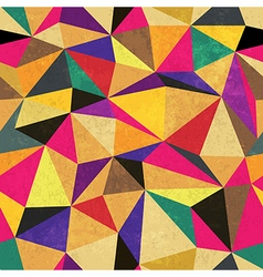 Seamless triangle aged pattern vector