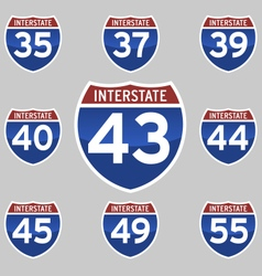 Interstate 35 55 vector