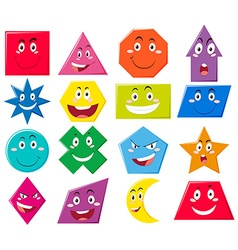 Different shapes with facial expressions vector