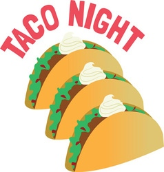 Taco night vector