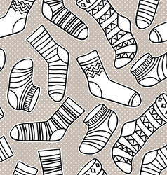 Seamless abstract pattern with socks vector