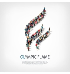 Olympic flame people 3d vector
