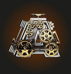 A letter with gears vector