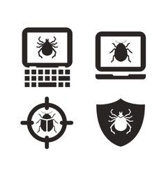 Antivirus icon laptop computer pc sign or vector