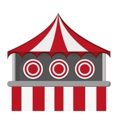 Bullseye tent in carnival icon vector