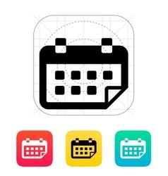 Calendar flipped icon vector