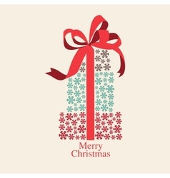 christmas gift box with different color vector image