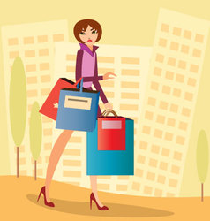 City-shopping vector image vector image