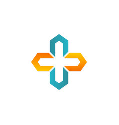 cross shape geometry logo vector image vector image