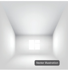 Empty white interior vector image vector image