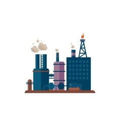 Factory buildings vector