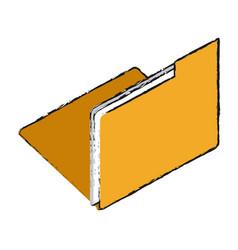 folder digital document vector image vector image