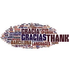 Gracias word cloud concept vector