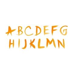 Handwritten watercolor alphabet vector