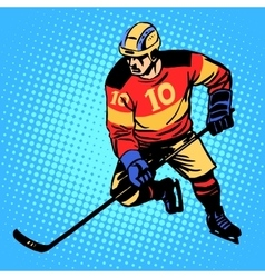 Hockey player number 10 vector