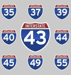 Interstate 35 55 vector
