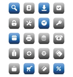 Matte buttons for internet vector image