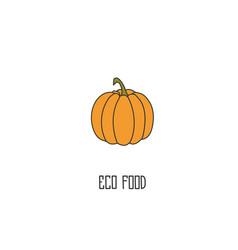 pumpkin hand drawn vector image vector image
