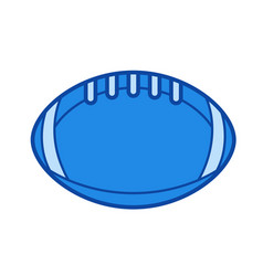 rugby ball line icon vector image