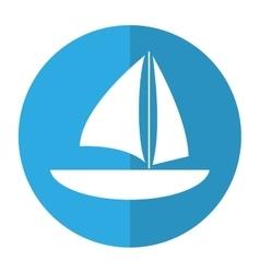 sailboat navigation water recreation shadow vector image