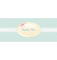 Shabby chic congratulations card classic vector