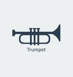 trumpet icon silhouette icon vector image