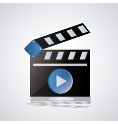 Video movie and media design vector