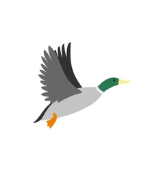 Duck icon flat style vector