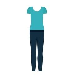 Isolated female cloth design vector