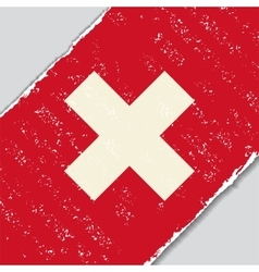 Swiss grunge flag vector image