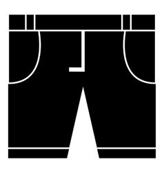 Men classic shorts icon simple style vector