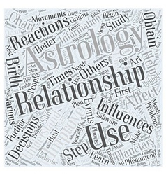 Astrology improves relationships word cloud vector