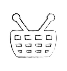 Shopping basket isolated vector
