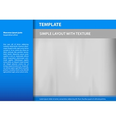 template blue s vector image
