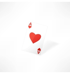 Hearts playing card vector image
