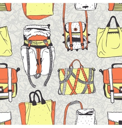 Seamless pattern with original bags vector
