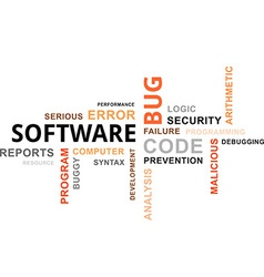 Word cloud software bug vector